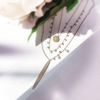 Bar Diamond Necklace