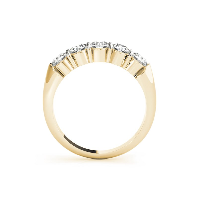 Gallery Designs Round Brilliant Prong Band
