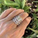 Sophia by Design Baguette & Round Diamond Ring 18K White