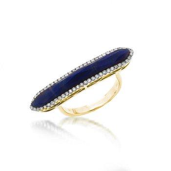 Blue Sapphire Bar Ring 14KY