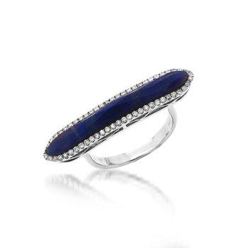Blue Sapphire Bar Ring