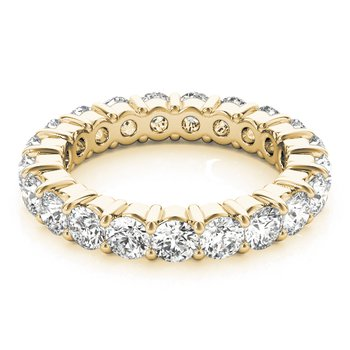 Prong-Set 2.65cttw Eternity Band 14KY