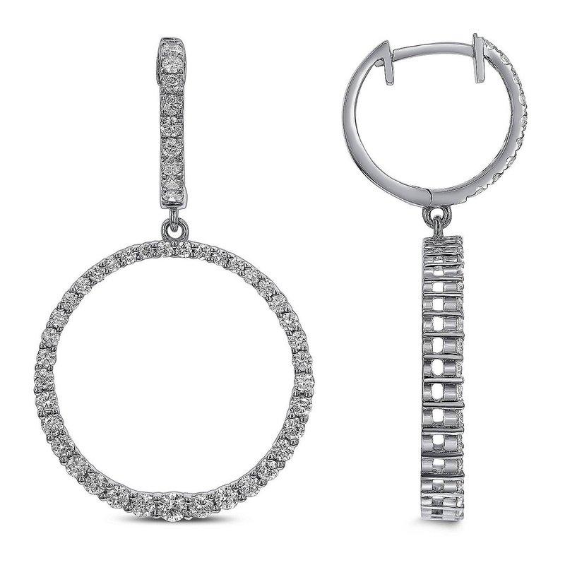 Odelia Jewelry Circle Dangle Earrings 18KW