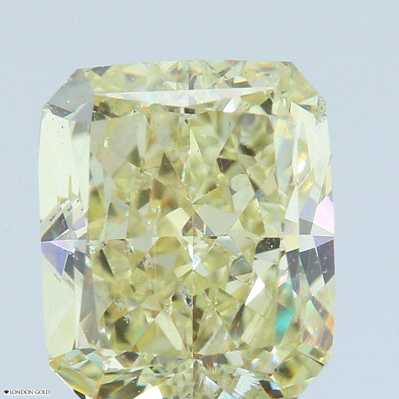 Colored Diamonds 3.43 Radiant Fancy Yellow-Clarity Enhanced