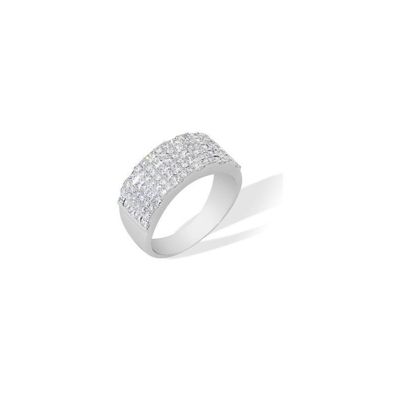 London Gold Designs Diamond Fashion Ring 18KW