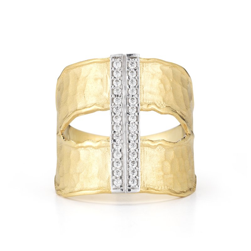 I. Reiss 14K-Y CUT-OUT RING, 0.20CT