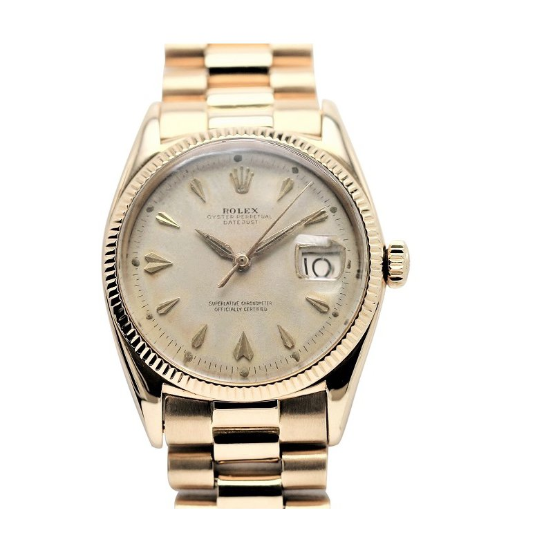 Rolex Pre-Owned Watches Oyster Perpetual 18K Vintage Pre-Owned
