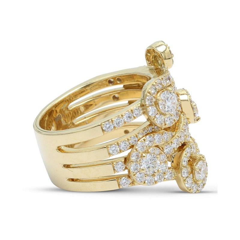Isadora Diamond Swirl Ring