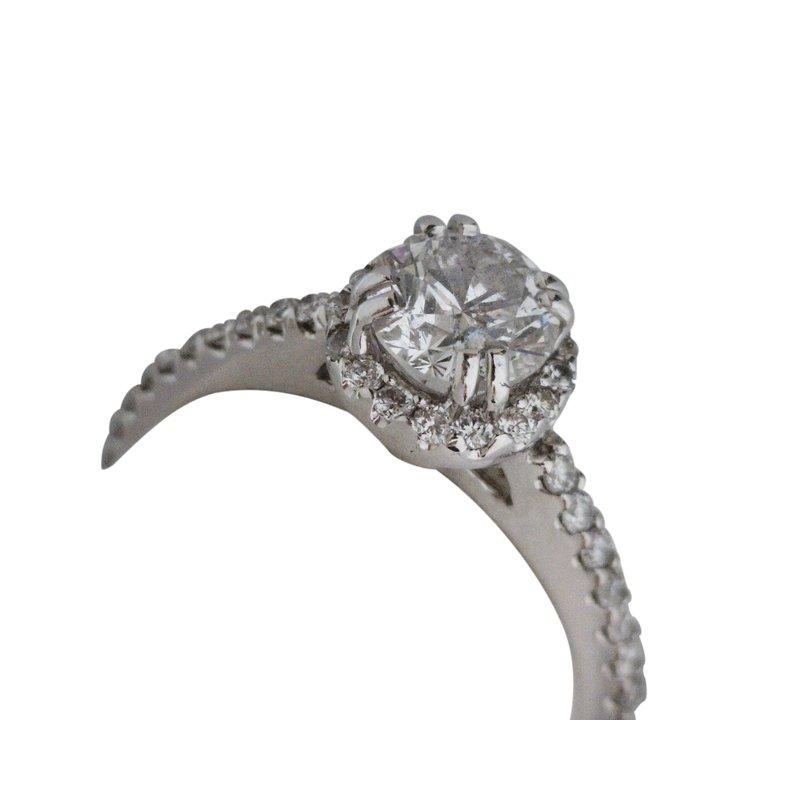 Estate Jewelry Estate Diamond Halo Engagement Ring