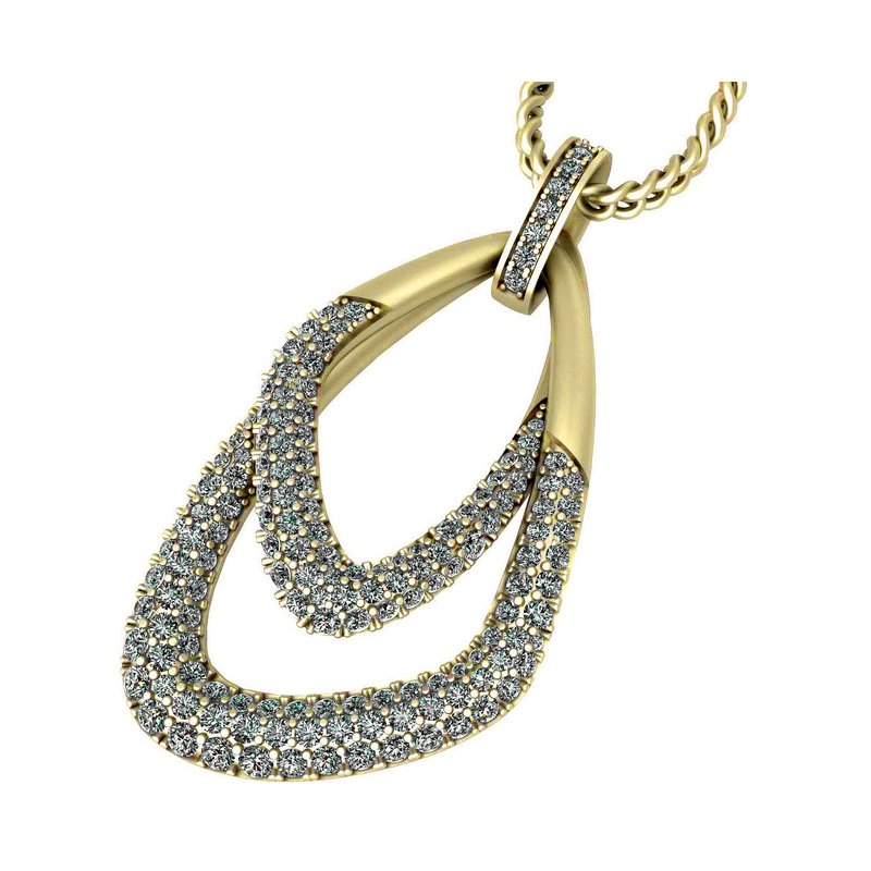 Isadora Double Loop Pendant 18KY