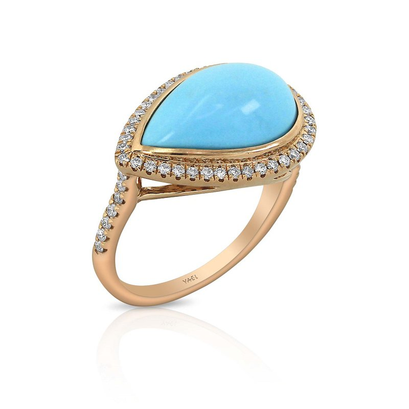 Yael Designs Turquoise & Diamond Ring 18KR