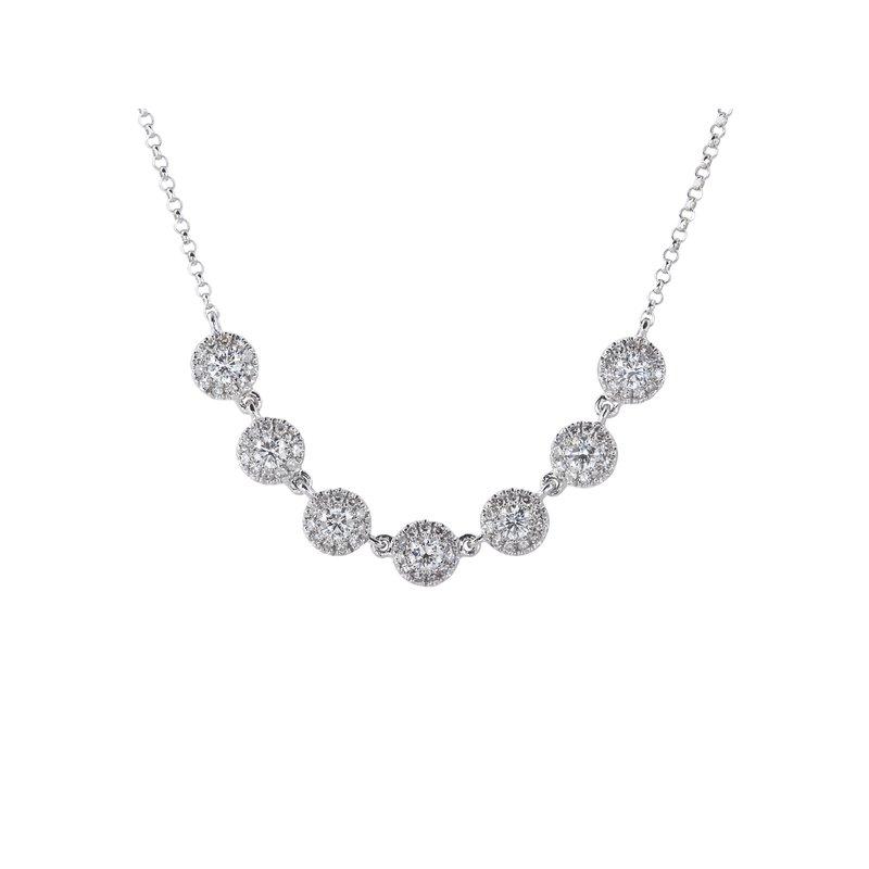 Sophia by Design Multi Halo Diamond Necklace
