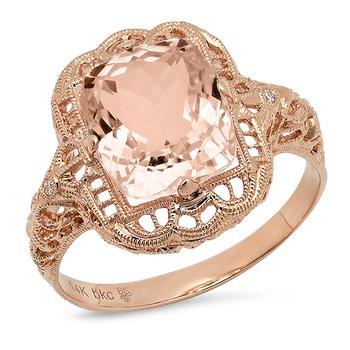 Vintage Morganite Ring