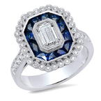 Beverley K Art Deco Halo Setting - Special Order
