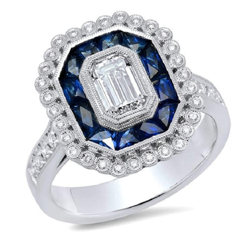 Art Deco Halo Setting - Special Order