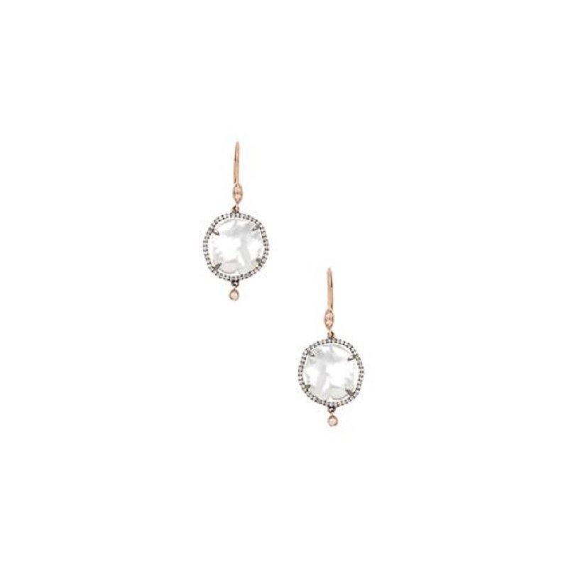 Meira T Pearl Drop Earrings 14KR