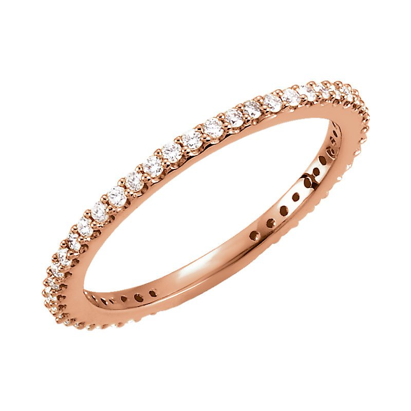 Gallery Designs 14K Rose Gold Stackable Diamond Ring