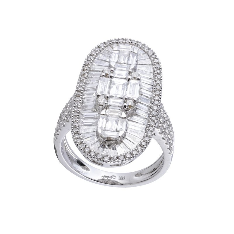 Sophia by Design Art Deco Diamond Cocktail Ring