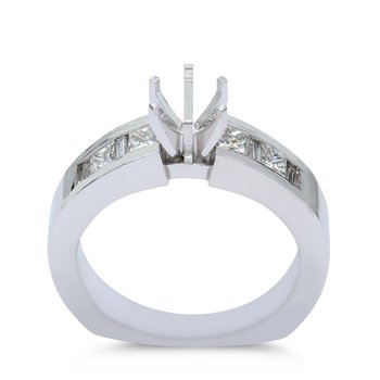 Cathedral Engagement Ring Setting 14KW