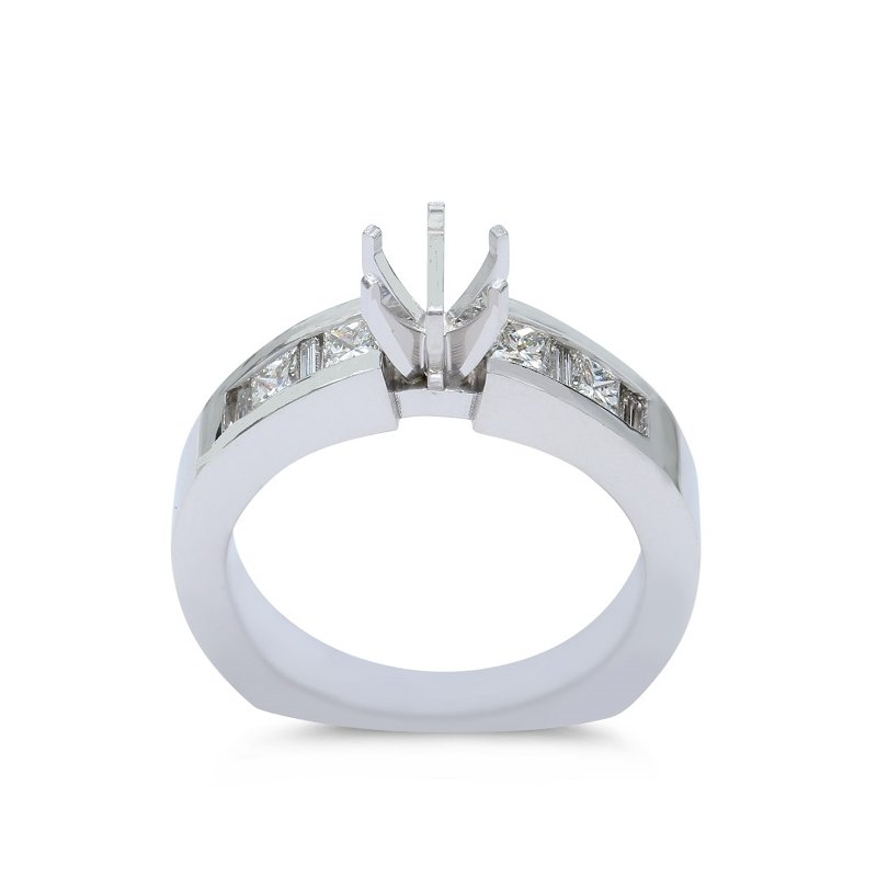 Lunaria Cathedral Engagement Ring Setting 14KW