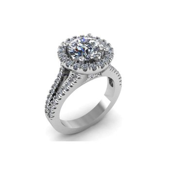 Halo Diamond Engagement Setting
