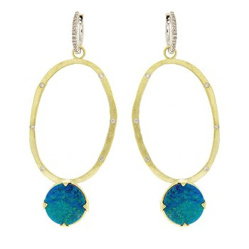 Opal Doublet Drop Dangles