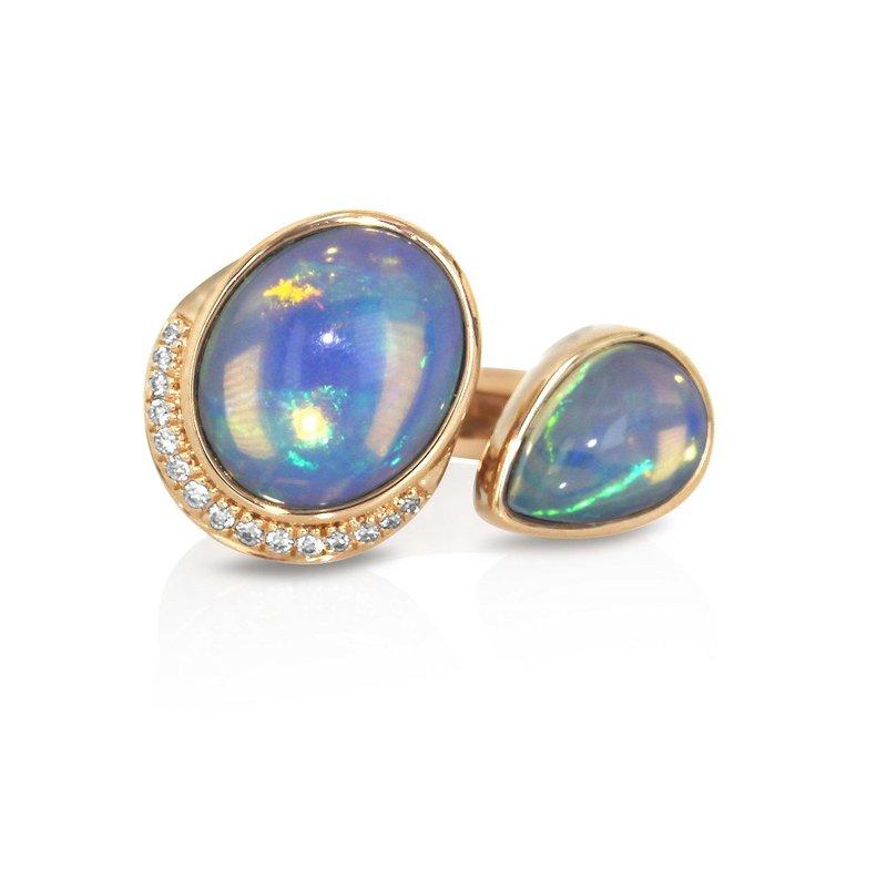 Yael Designs Toi & Moi Opal Ring 18KR
