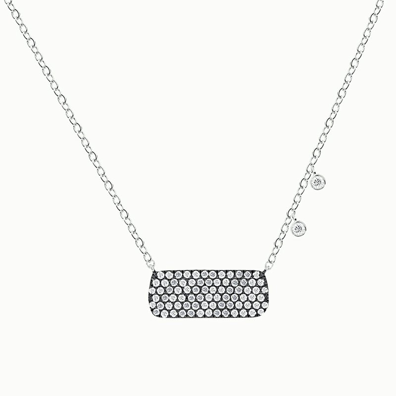 Meira T Pave Bar Necklace