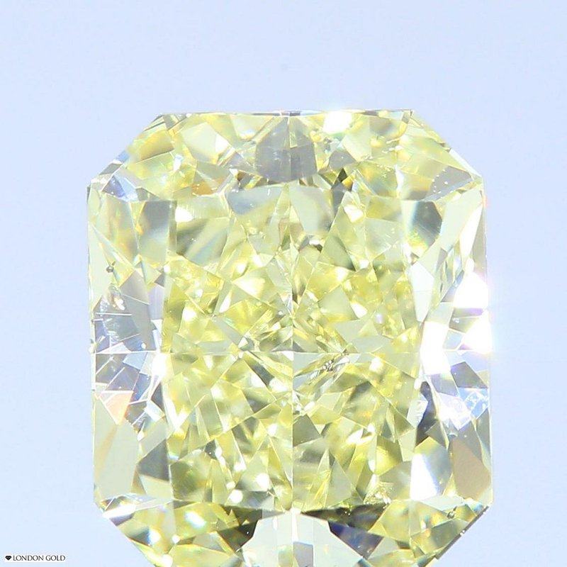 Colored Diamonds Radiant 3.22 Natural Fancy Yellow-SI2