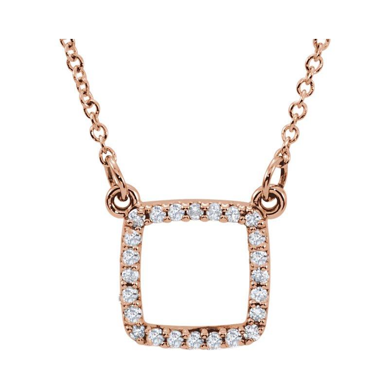 Gallery Designs Square Diamond Necklace