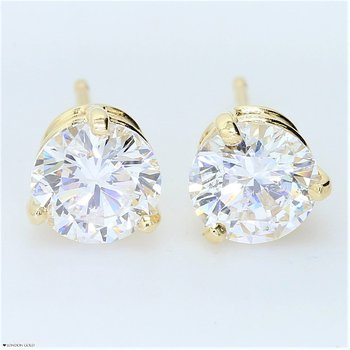 1.87ct Round Brilliant Diamond Stud Earrings