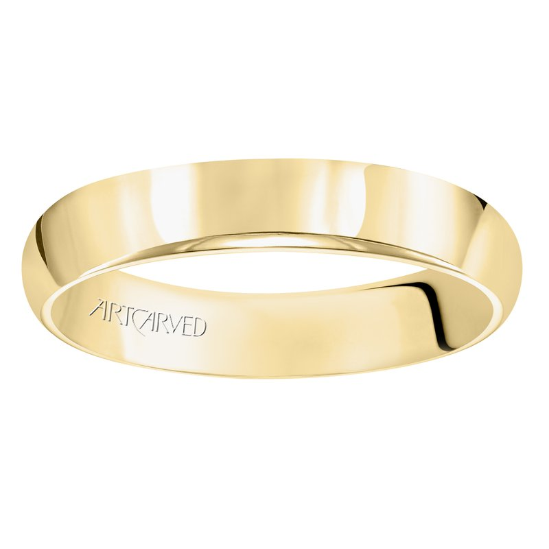 ArtCarved 14k Yellow Gold Plain Band