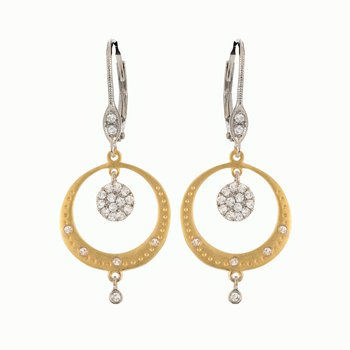Circle Dangle Earrings 14K