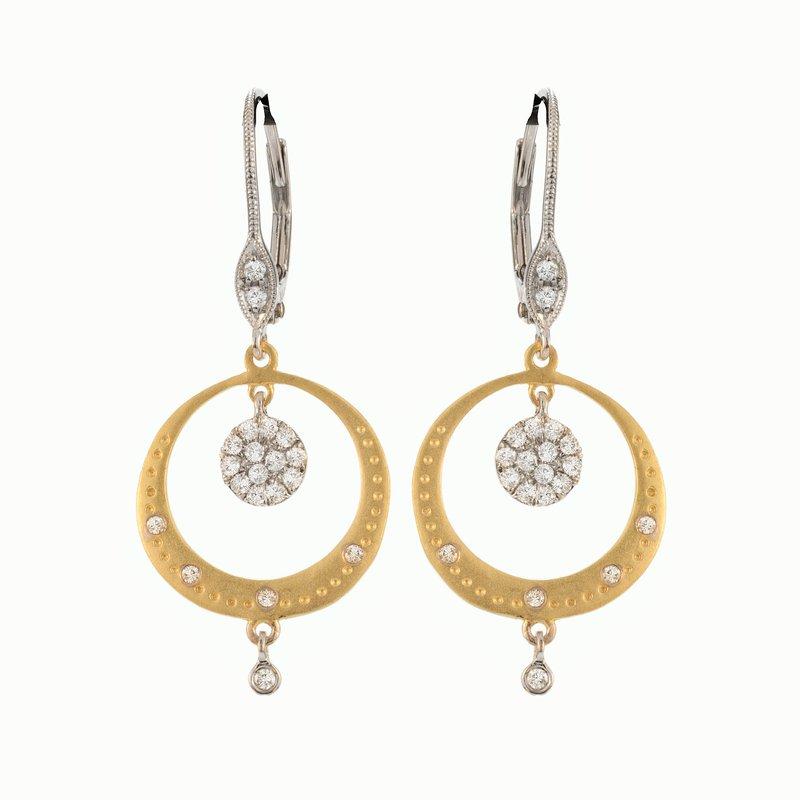 Meira T Circle Dangle Earrings 14K