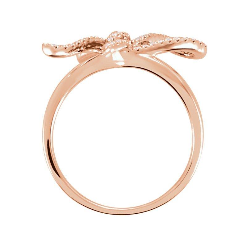 Gallery Designs Bow Diamond Set Ring 14KR