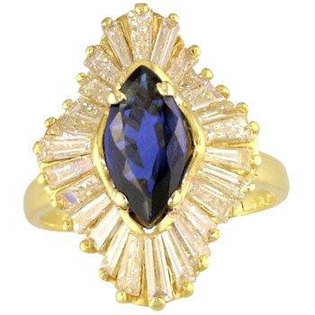 Vintage Ballerina Sapphire and Diamond Ring