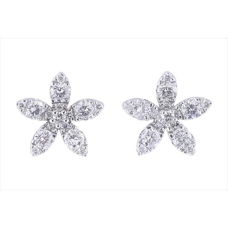 Sophia by Design Diamond Flower Studs 14KW