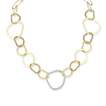 14K-Y OPEN LINK NECK., 0.50CT