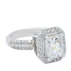 Lunaria Radiant Cut Halo Engagement Ring