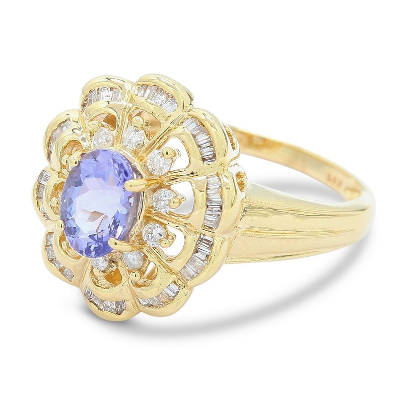 Estate Jewelry Tanzanite & Diamond Ring