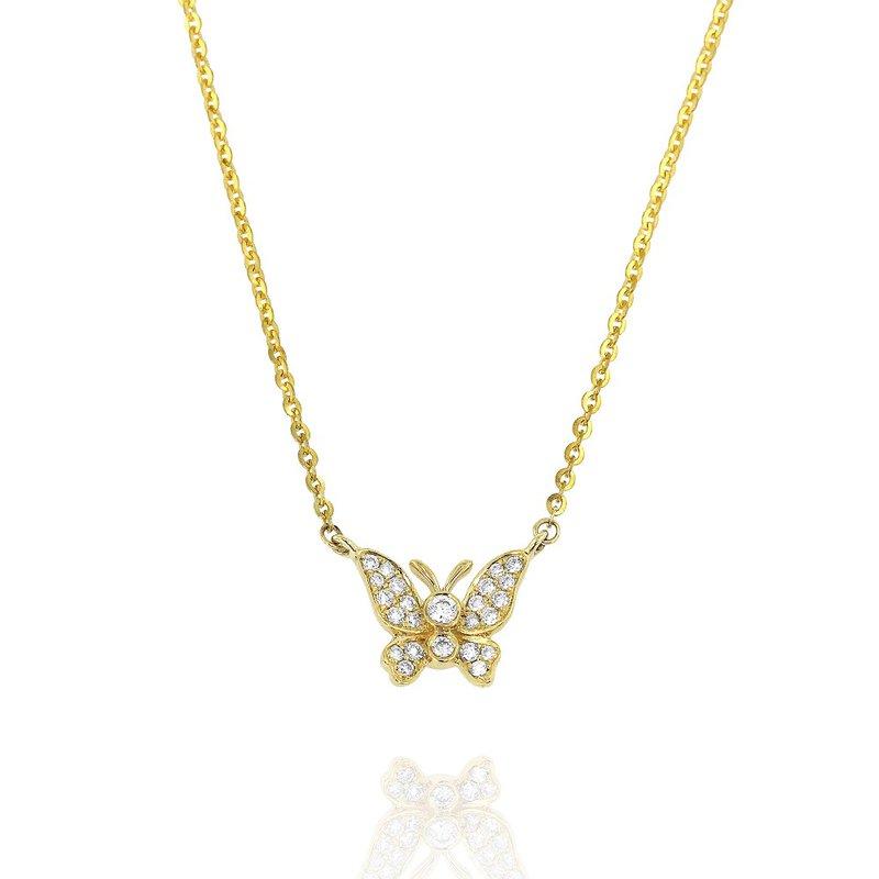 Yael Designs Butterfly Diamond Necklace 18KY