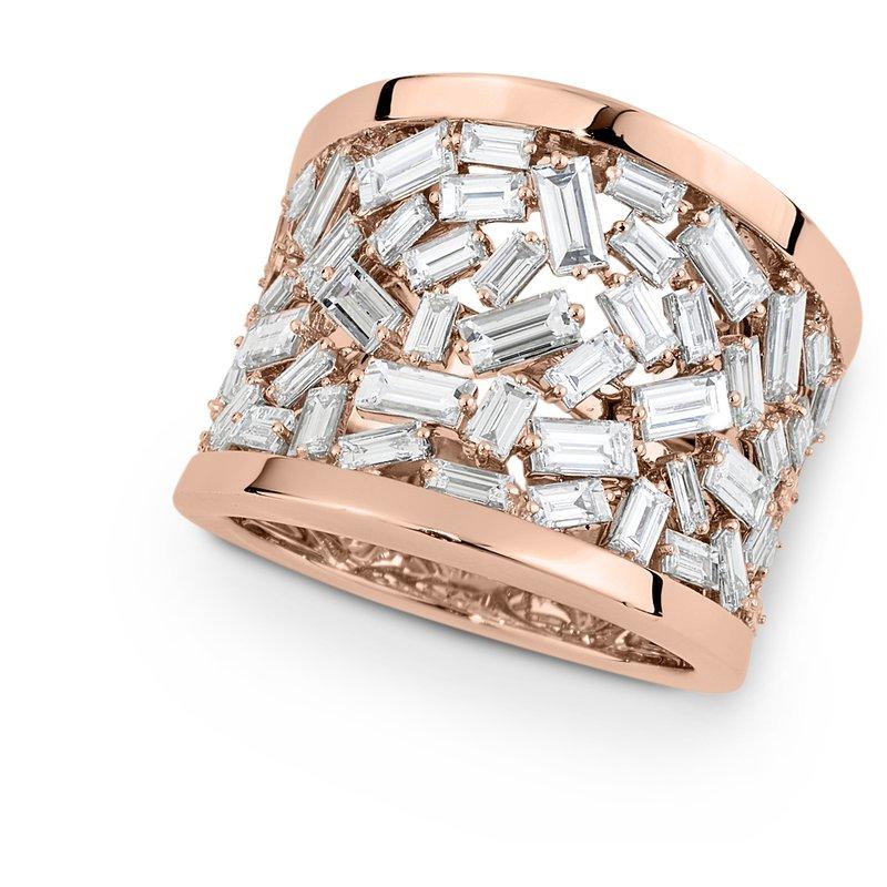 Isadora Wide Baguette Diamond Band 18KR