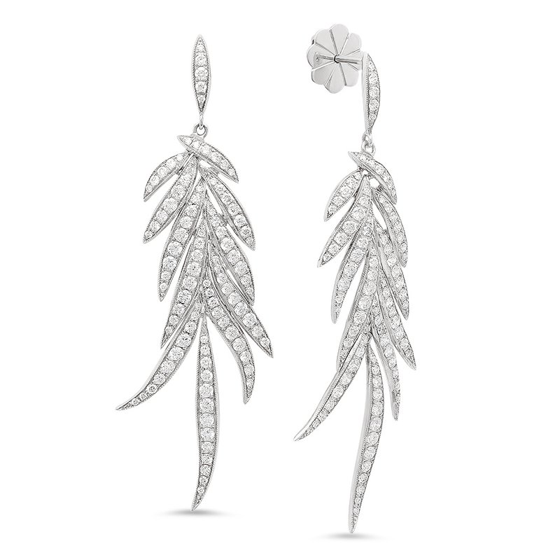 Beverley K Diamond Leaf Dangles