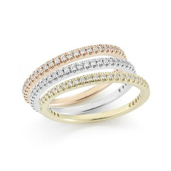 14K-W STACKABLE GALLERY RING, 0.25CT