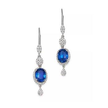 Kyanite & Diamond Drop Earrings