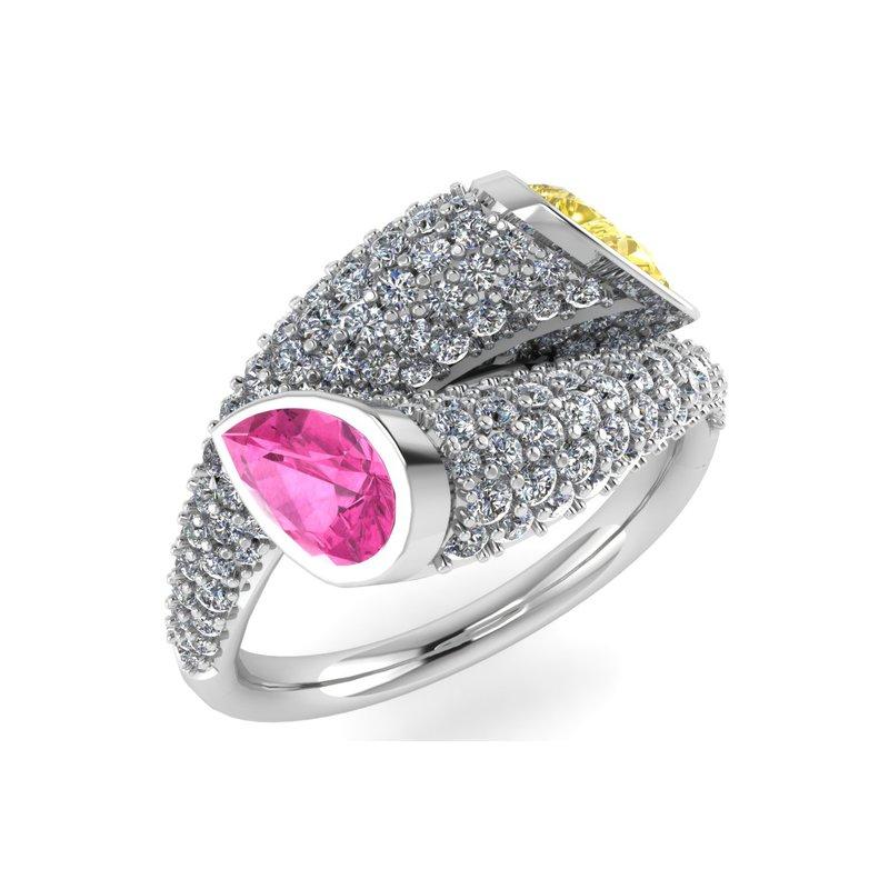 Isadora Gemstone & Diamond Ring 18KW