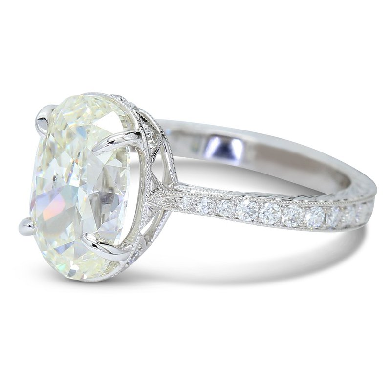 4.02 Oval Engagement Ring 14KW