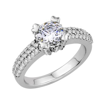 Pave Engagement 18KW - Setting Only