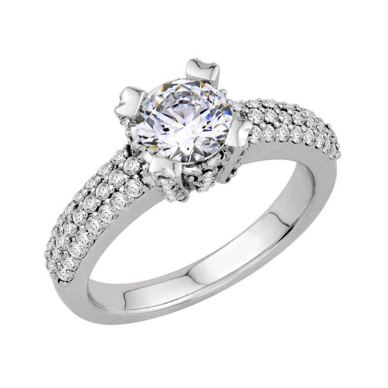 Isadora Pave Engagement 18KW - Setting Only