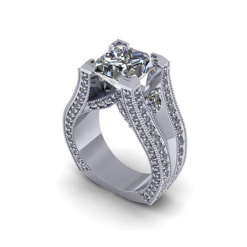 Lunaria Princess Cut Engagement Ring
